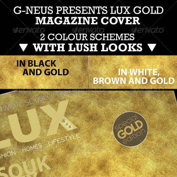 Luxury Gold Stunning Magazine Cover