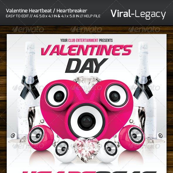 Valentine's Day Heartbeat / Heartbreaker Flyer