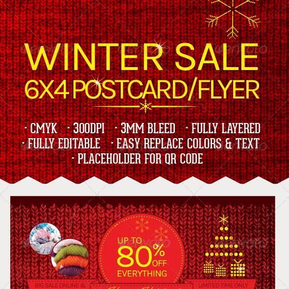 Winter Sale Postcard/Flyer