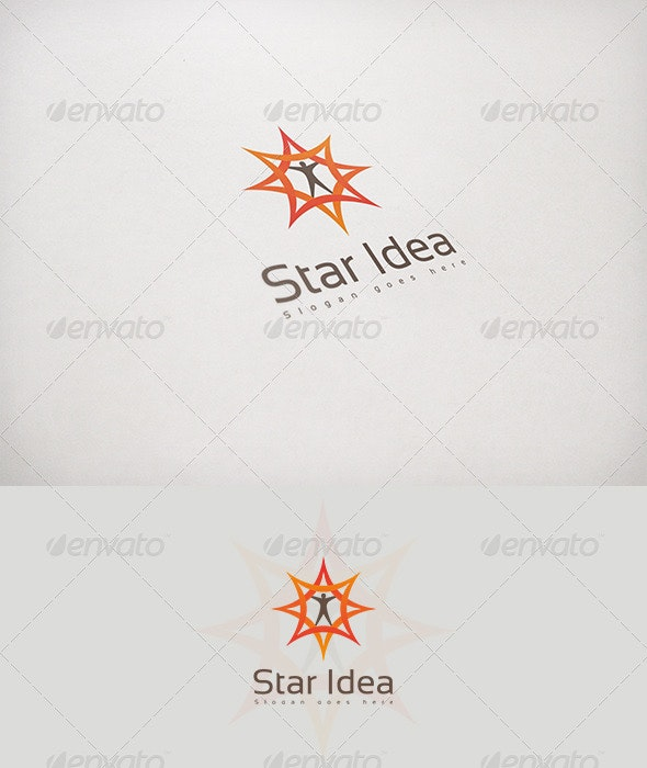 Star Idea - Humans Logo Templates