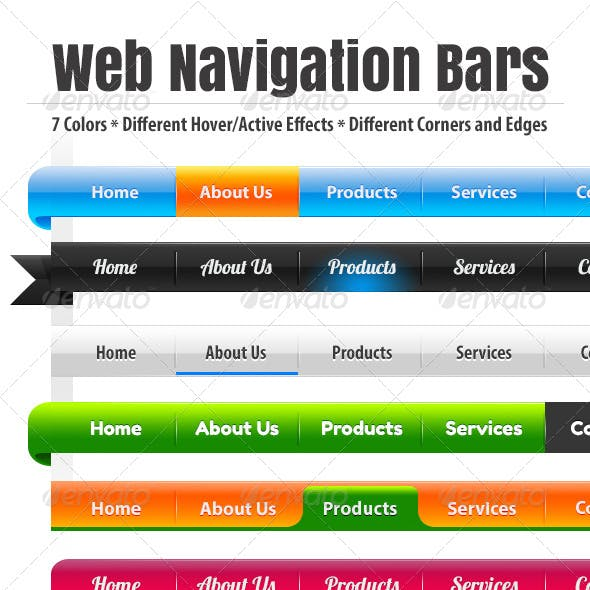 Custom Web Navigation Bars