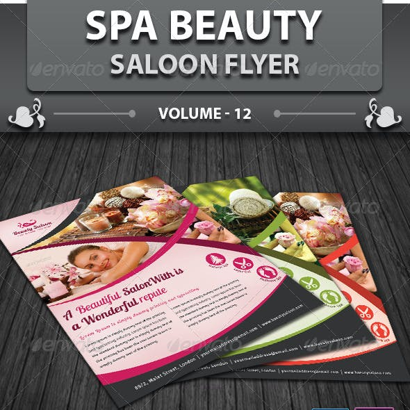 Spa & Beauty Saloon Flyer   Volume 12