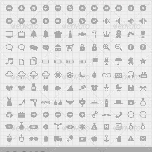 132 Mini Vector Icons