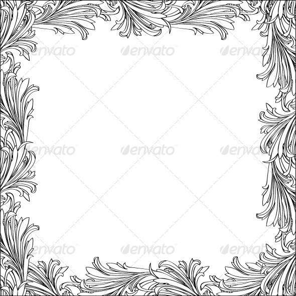Floral frame - Flourishes / Swirls Decorative