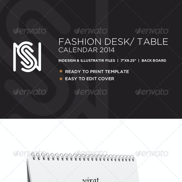 Fashion Desk Calendar