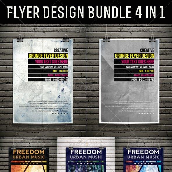 Flyer Design Bundle 4 in 1