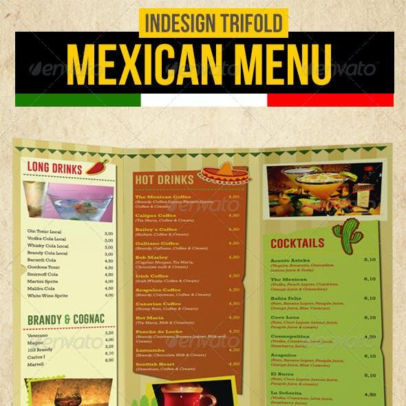 Mexican Trifold Menu