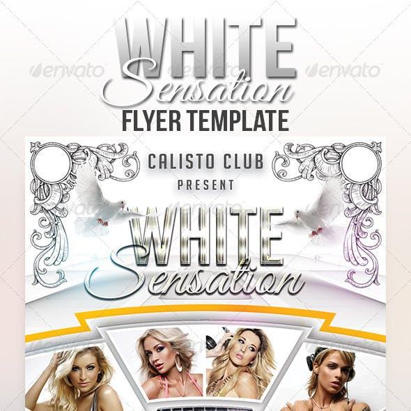 White Sensation Flyer Template