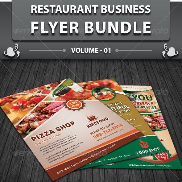 Restaurant Business Flyer | Bundle 1