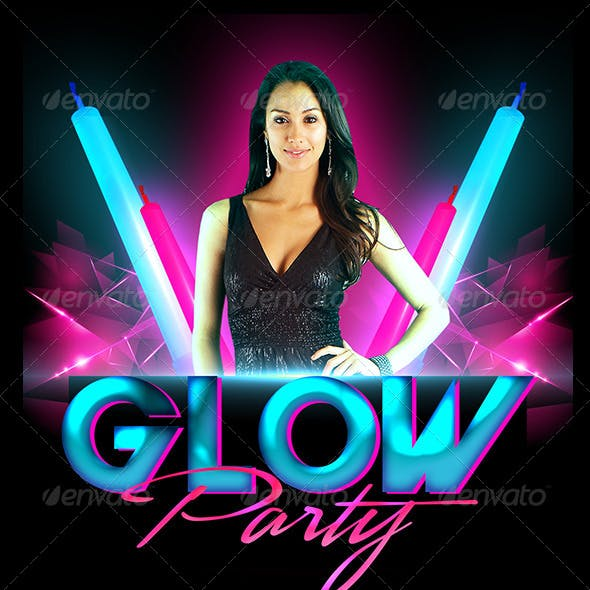 Glow Party Flyer Template