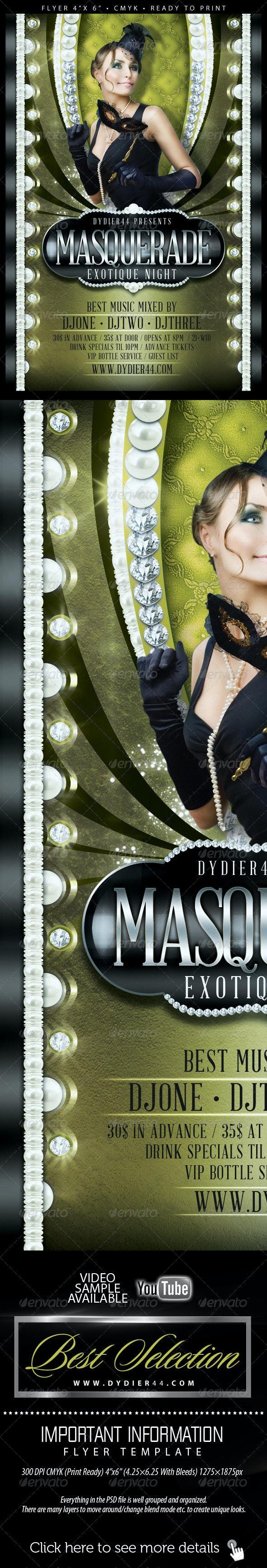 Masquerade (Flyer Template 4x6) - Flyers Print Templates