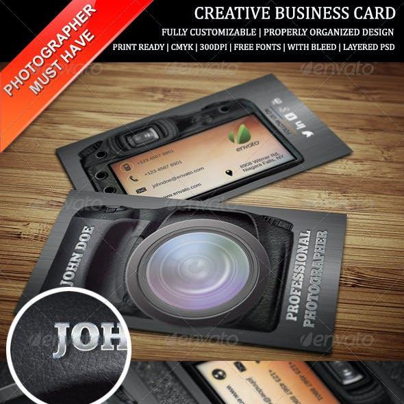 Photography Creative Business Card