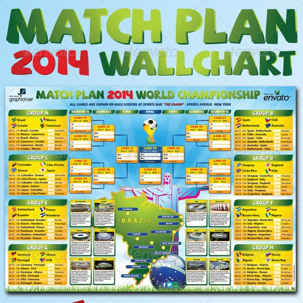 Matchplan 2014 Wallchart