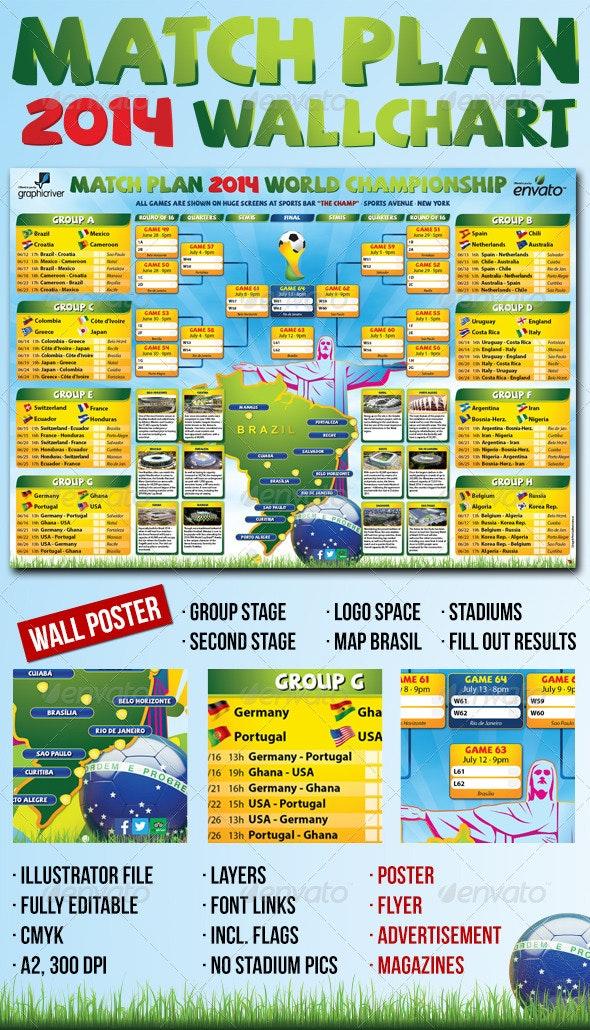 Matchplan 2014 Wallchart - Sports Events