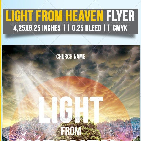 Light From Heaven Flyer