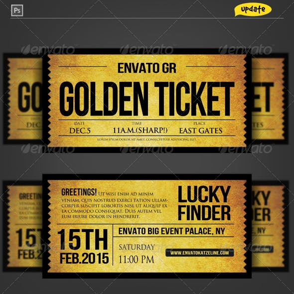 Golden Silver Ticket Corporate Invitation II