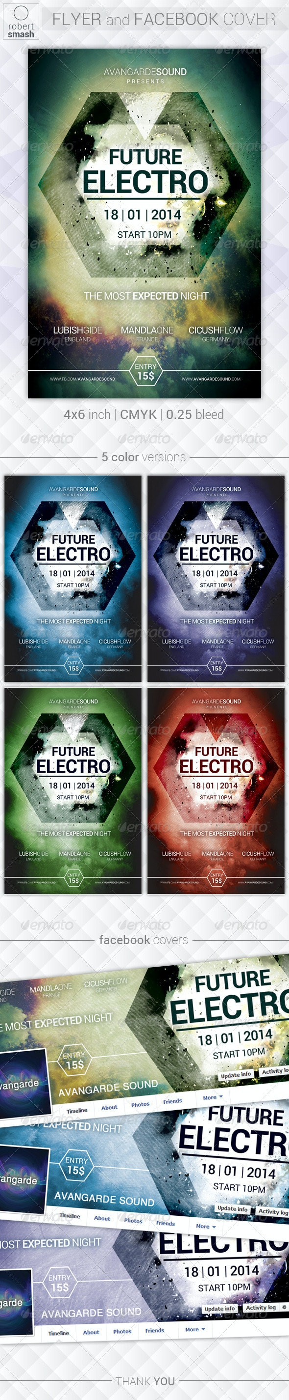 Future Electro Flyer - Clubs & Parties Events