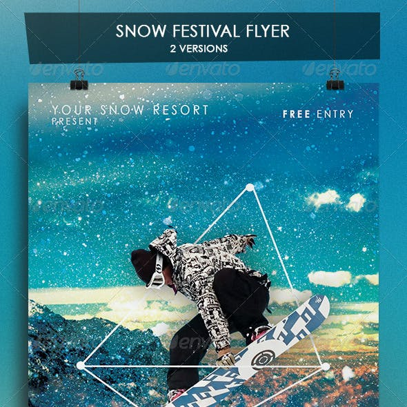 Winter Snow Festival Flyer