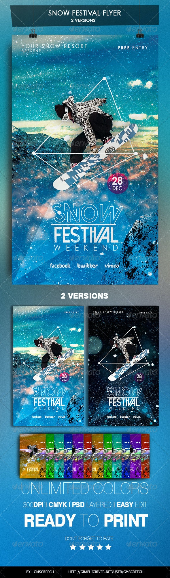 Winter Snow Festival Flyer - Sports Events