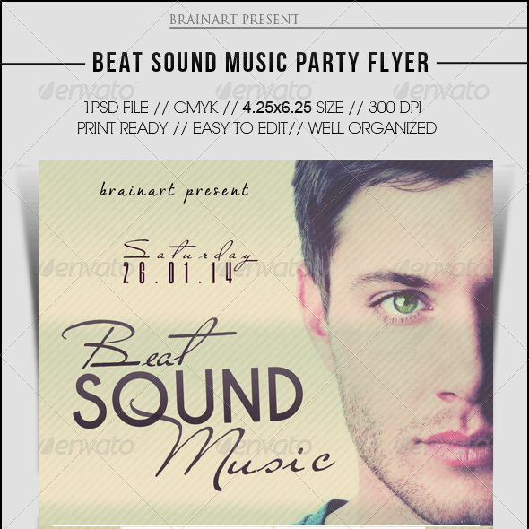 Beat Sound Music Party Flyer