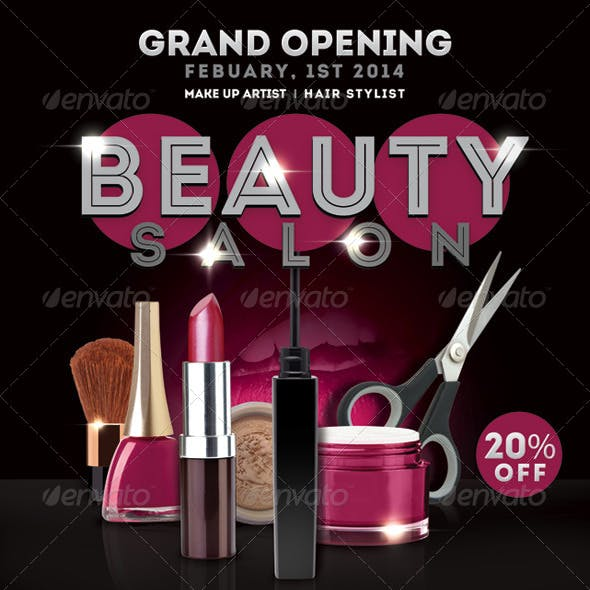 Flyer Beauty Salon Opening Promoting