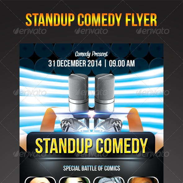 Stand-Up Comedy Flyer