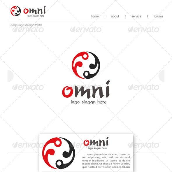 Yin Yang Circle Logo