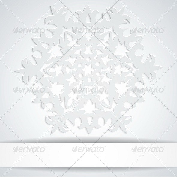 Snowflake with Banner - Backgrounds Decorative