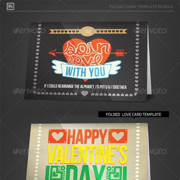 Folded Valentine Love Card