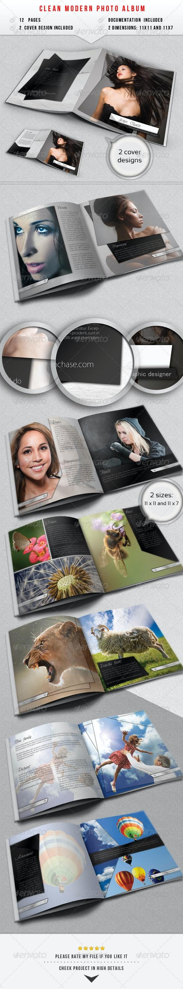 Clean Modern Photo Album - Photo Albums Print Templates