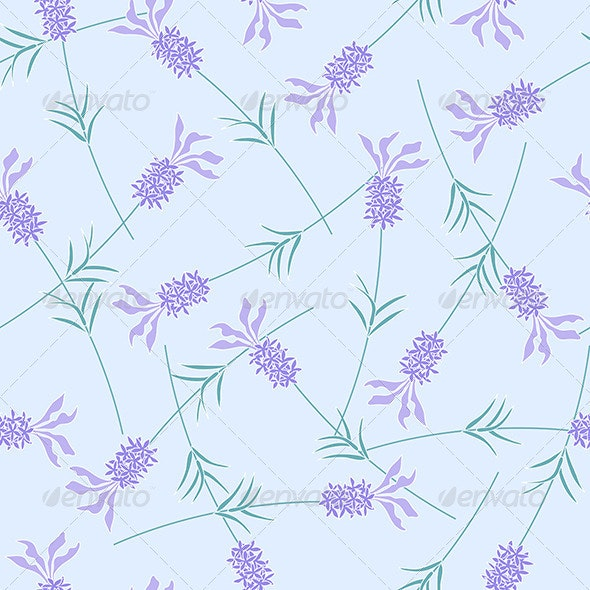 Lavender Seamless Pattern - Backgrounds Decorative