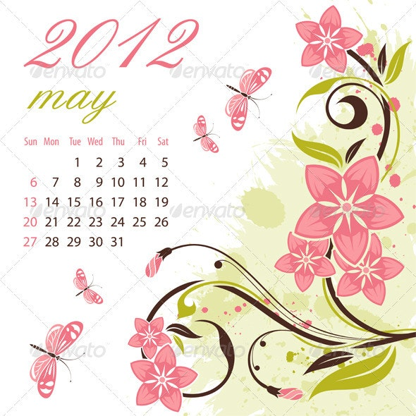 Calendar for 2012 May - New Year Seasons/Holidays