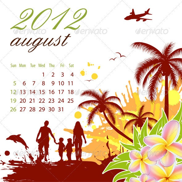 Calendar for 2012 August - New Year Seasons/Holidays