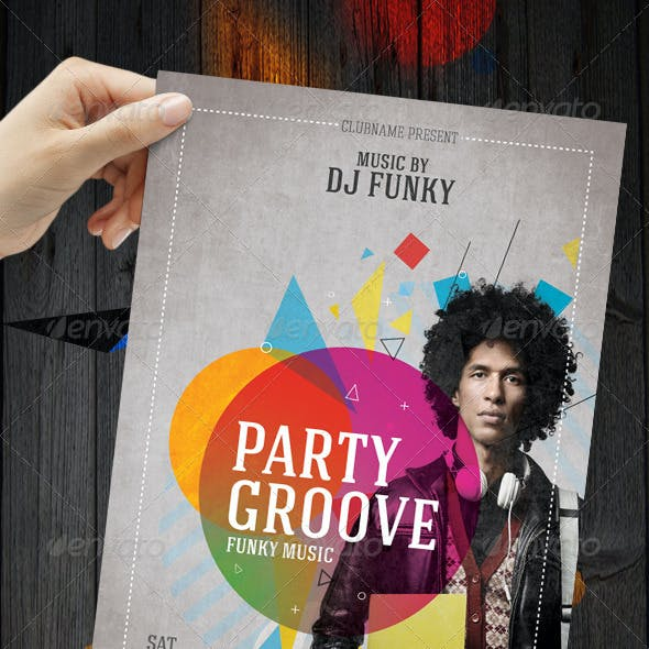 2 Versions Party Flyer / Poster A4