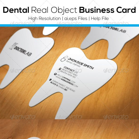 Dental Real Object Business Card