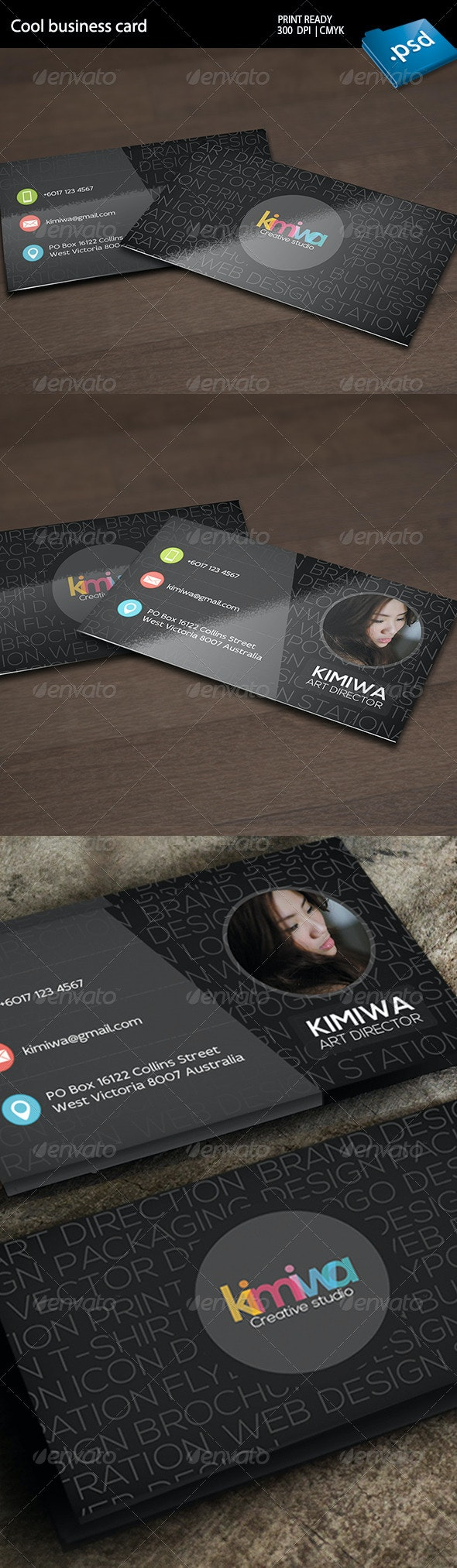 Typography business card Vol2 - Creative Business Cards
