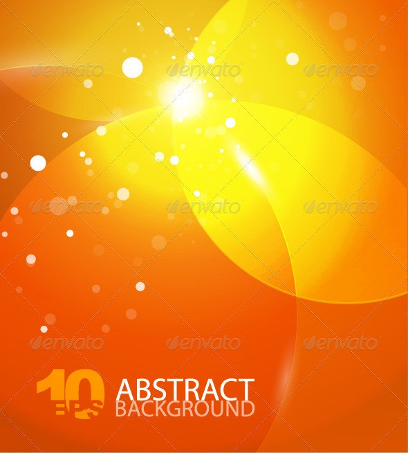 Abstract vector orange sky background - Backgrounds Decorative