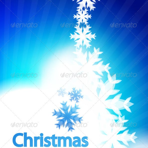 Shiny Christmas vector background