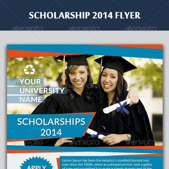 Scholarship Flyer Templates From Graphicriver border=
