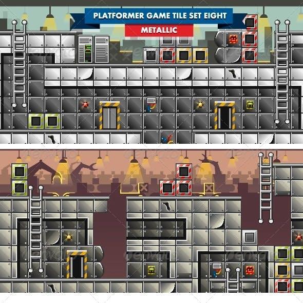 Platformer Game Tile Set Eight