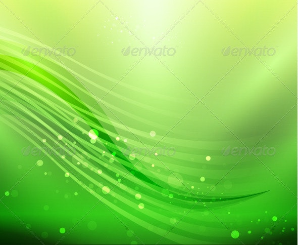Vector abstract green wave background - Backgrounds Business