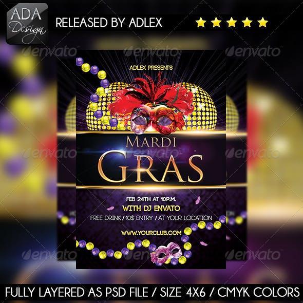 Mardi Gras Carnival - Masquerade Flyer