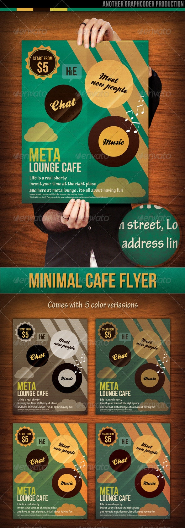 Minimal Lounge Cafe Flyer - Miscellaneous Events