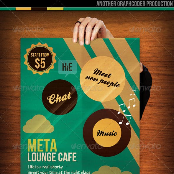 Minimal Lounge Cafe Flyer