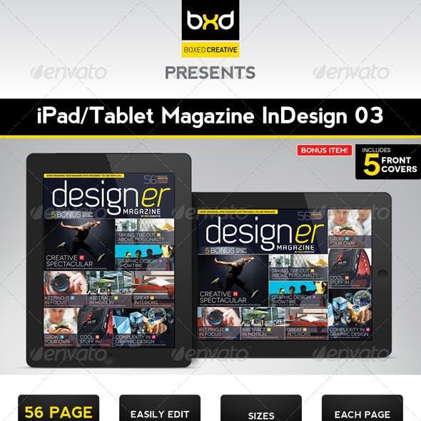 iPad/Tablet Magazine InDesign Layout 03