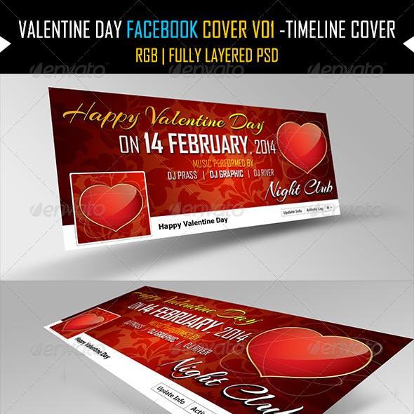 Valentine Day Facebook Cover V01 -Timeline Cover