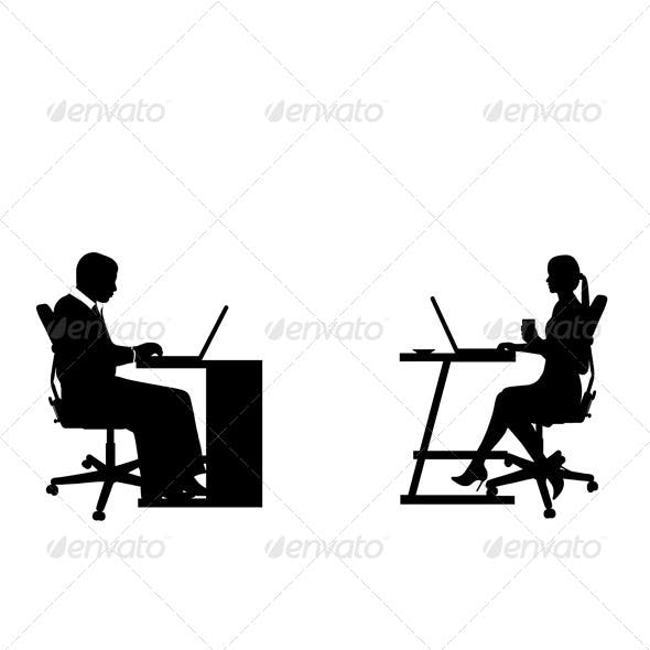 Business People at the Desk
