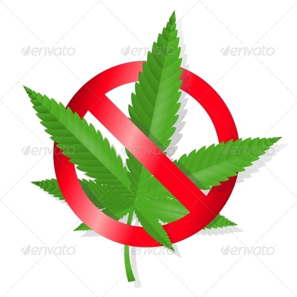 Stop Marijuana Sign