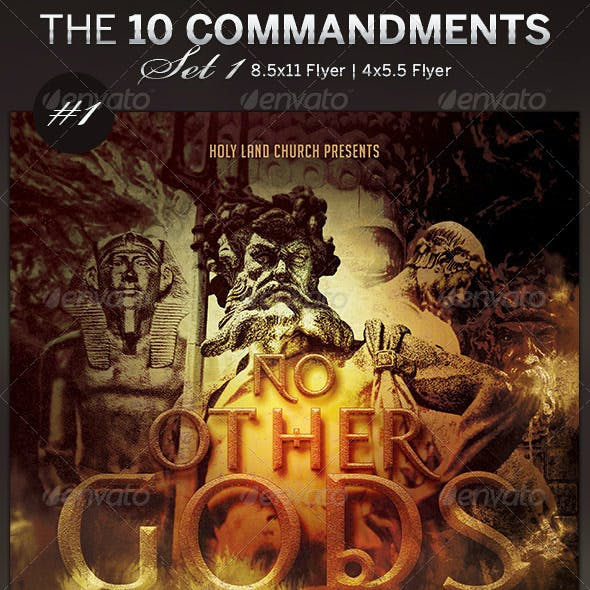 The 10 Commandments Flyer Templates Set 1