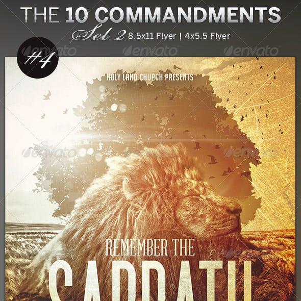 The 10 Commandments Flyer Templates Set 2